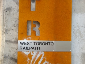 Railpath marker at Dupont Steps